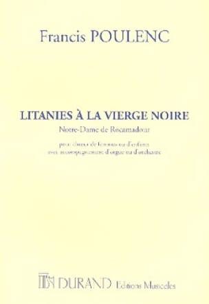 Litanies à la Vierge Noire - Choeur seul - POULENC - laflutedepan.com