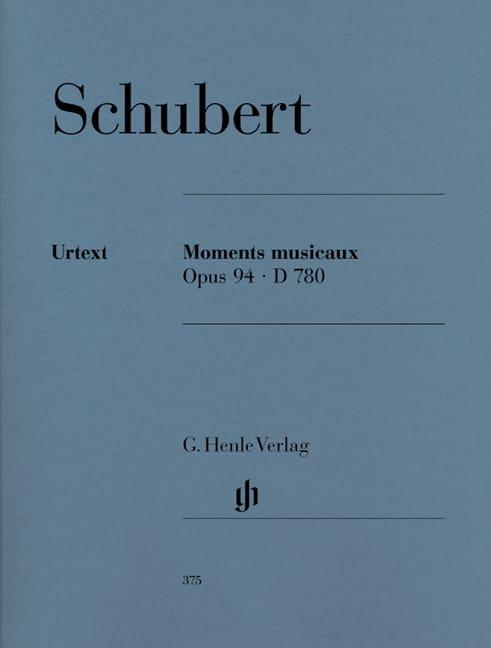 Moments Musicaux D 780 Opus 94 - SCHUBERT - laflutedepan.com