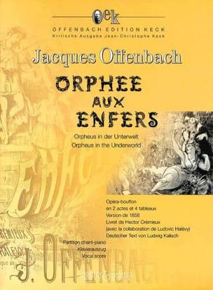 Orphée Aux Enfers OFFENBACH Partition Opéras - laflutedepan