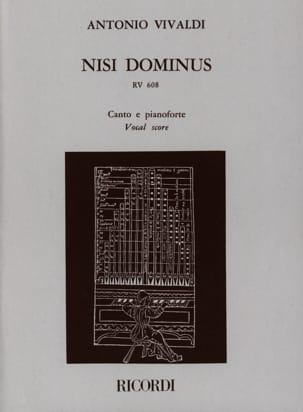 Nisi Dominus Rv 608 VIVALDI Partition Mélodies - laflutedepan