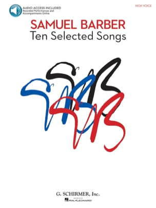 10 Selected Songs. Voix Haute BARBER Partition Mélodies - laflutedepan