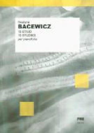 10 Etudes - Grazyna Bacewicz - Partition - Piano - laflutedepan.com