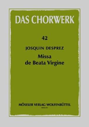 Missa de Beata Virgine Josquin Després Partition Chœur - laflutedepan