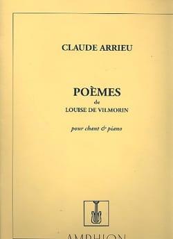 Poèmes de Louise de Vilmorin Claude Arrieu Partition laflutedepan