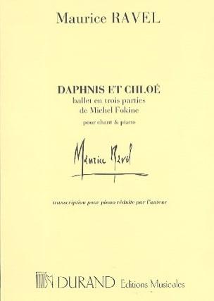 Daphnis et Chloé. Ballet RAVEL Partition Piano - laflutedepan