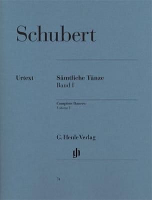 Sämtliche Tänze. Volume 1 SCHUBERT Partition Piano - laflutedepan