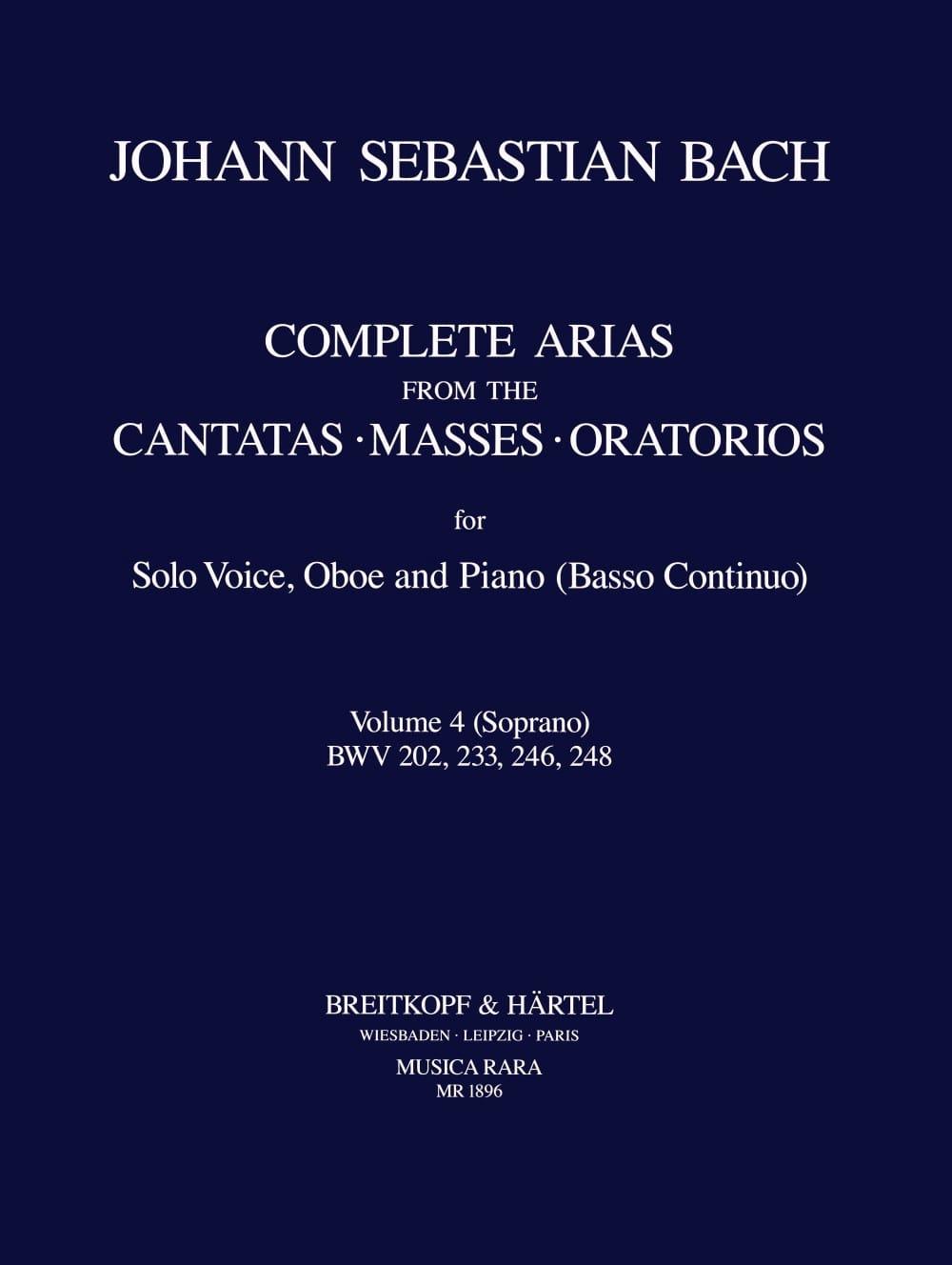 Complete arias from the cantatas, masses, oratorios Volume 4 - laflutedepan.com