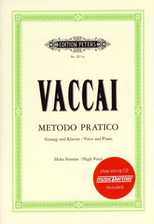 Metodo Pratico Voix Haute Nicola Vaccai Partition laflutedepan