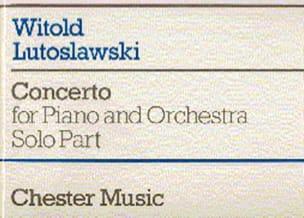 Concerto Pour Piano LUTOSLAWSKI Partition Piano - laflutedepan
