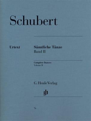 Sämtliche Tänze. Volume 2 SCHUBERT Partition Piano - laflutedepan