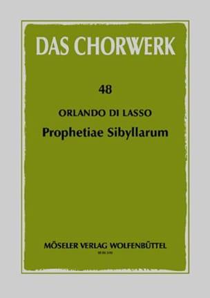 Prophetiae Sibyllarum Orlando di Lassus Partition Chœur - laflutedepan