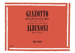 Adagio orgue Albinoni Tomaso / Giazotto Partition Orgue - laflutedepan