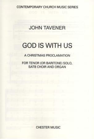 God Is With Us John Tavener Partition Chœur - laflutedepan