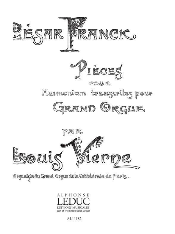 5 Pièces Pour Harmonium - FRANCK / VIERNE - laflutedepan.com