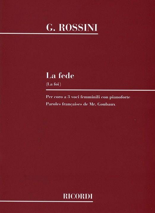La Fede - ROSSINI - Partition - Chœur - laflutedepan.com