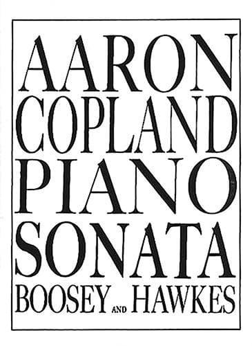 Sonate - COPLAND - Partition - Piano - laflutedepan.com