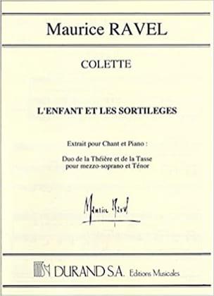 Duo De la Théière et De la Tasse RAVEL Partition Opéras - laflutedepan
