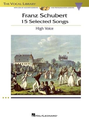15 Selected Songs. Voix Haute SCHUBERT Partition laflutedepan