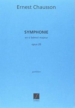 Symphonie en Si bémol majeur op.20 - CHAUSSON - laflutedepan.com