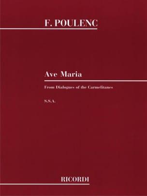 Ave Maria. Dialogue des Carmélites POULENC Partition laflutedepan