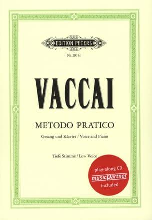 Metodo Pratico Voix Grave Nicola Vaccai Partition laflutedepan