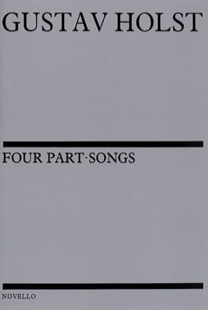 4 Part Songs HOLST Partition Chœur - laflutedepan