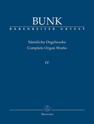Sämtliche Orgelwerke Volume 4 Gerard Bunk Partition laflutedepan