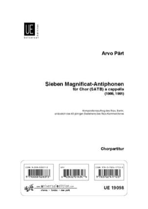 7 Magnificat-Antiphonen PÄRT Partition Chœur - laflutedepan