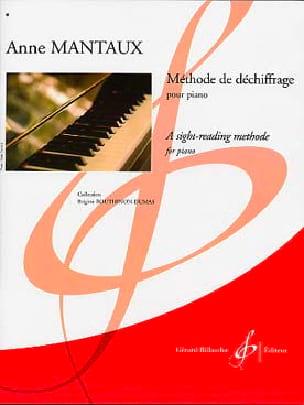 Méthode de Déchiffrage - Anne Mantaux - Partition - laflutedepan.com