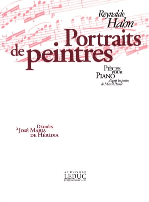 Portraits de Peintres Reynaldo Hahn Partition Piano - laflutedepan