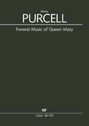 Funeral music of Queen Mary - PURCELL - Partition - laflutedepan.com