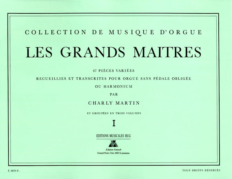 Les Grands Maitres Volume 1 - Partition - Orgue - laflutedepan.com