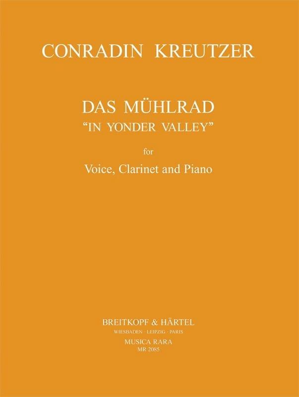 Das Mühlrad - Conrad Kreutzer - Partition - laflutedepan.com
