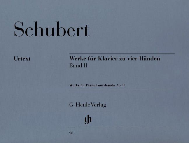Oeuvres pour Piano à 4 Mains Volume 2 - SCHUBERT - laflutedepan.com
