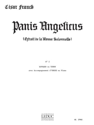 Panis Angelicus N° 2. Voix Haute FRANCK Partition laflutedepan