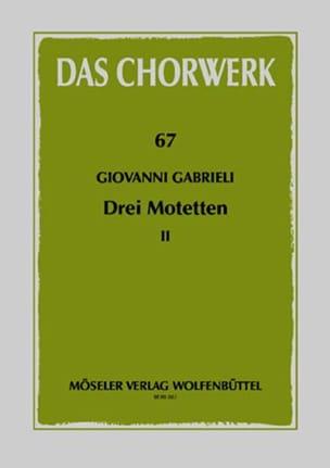 3 Motetten GABRIELI Partition Chœur - laflutedepan