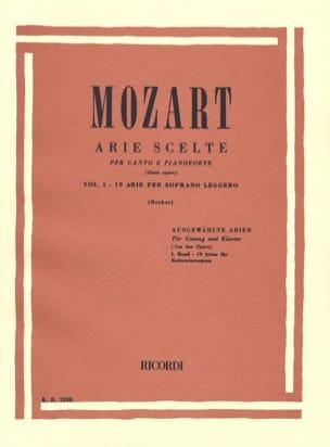 Arie Scelte Soprano Léger Volume 1 MOZART Partition laflutedepan