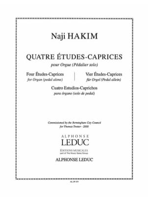4 Etudes-Caprices Naji Hakim Partition Orgue - laflutedepan