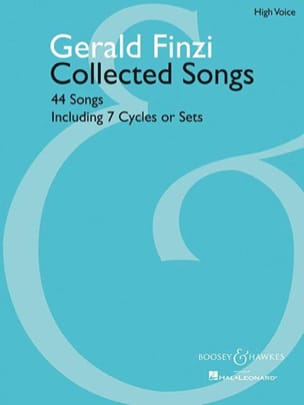 44 Collected Songs. Voix Haute Gerald Finzi Partition laflutedepan