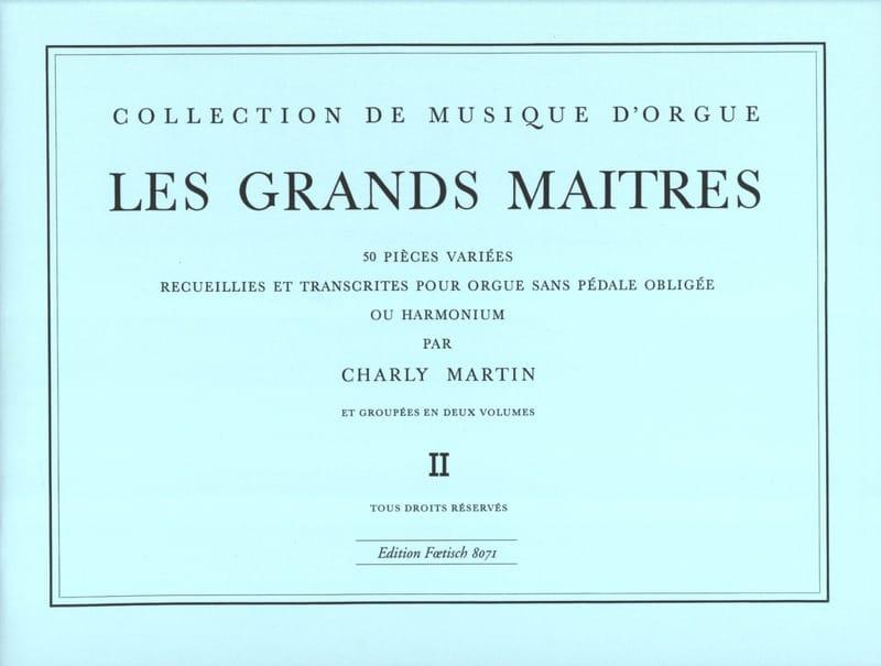 Les Grands Maitres Volume 2 - Partition - Orgue - laflutedepan.com