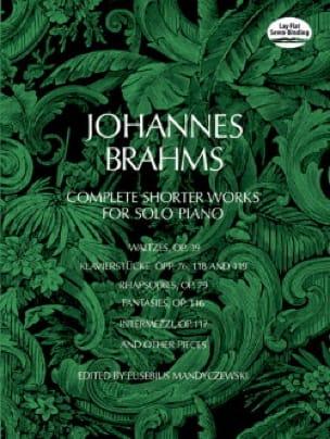 Complete Shorter Works - BRAHMS - Partition - Piano - laflutedepan.com
