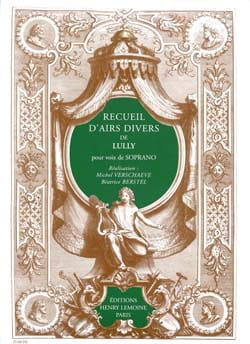 Recueil Airs Divers. Soprano LULLY Partition Opéras - laflutedepan