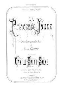 La Princesse Jaune Opus 30 SAINT-SAËNS Partition laflutedepan