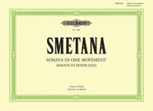 Sonate en 1 Mouvement. 2 Pianos 8 Mains SMETANA Partition laflutedepan