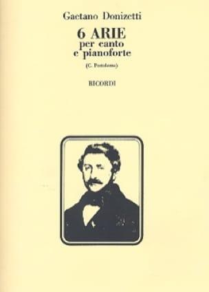 6 Arie - DONIZETTI - Partition - Mélodies - laflutedepan.com
