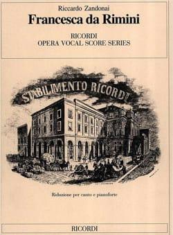 Francesca Da Rimini Riccardo Zandonai Partition Opéras - laflutedepan