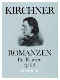 Romances Opus 22 Theodor Kirchner Partition Piano - laflutedepan