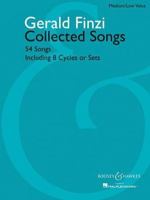 54 Collected Songs. Voix Grave Gerald Finzi Partition laflutedepan