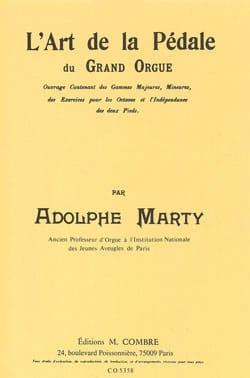 L'Art de la Pédale du Grand Orgue Adolphe Marty Partition laflutedepan