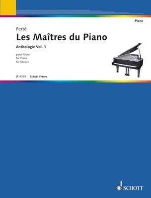 Les Maîtres du Piano Volume 1 Armand Ferté Partition laflutedepan